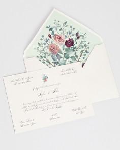 """Karte """"Eukalyptus und Rosen..."""