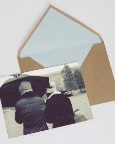 """Hochzeitseinladung """"Postal..."""